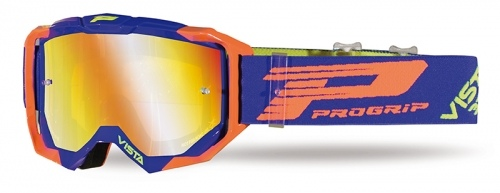 PROGRIP Goggle 3303-272 FL blue / orange fluo (INCLUDES FREE CLEAR LENS AND 10 TEAR OFFS)