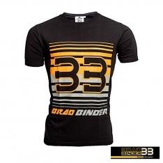 BRAD BINDER BLACK & ORANGE STRIPES T-SHIRT