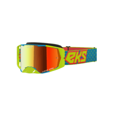 LUCID GOGGLE FLO YELLOW, CYAN & FIRE RED – RED MIRROR
