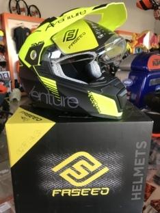 FS-606 Yellow/Black/Matt Helmet